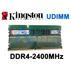 Memória 8GB Kingston KVR24E17S8 DDR4-2400Mhz ECC UDIMM PC4-19200T-E ML30 DL20 Gen9 Ts150 R330